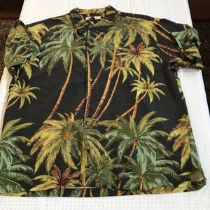 TOMMY BAHAMA BUTTON DOWN SILK SHIRT SIZE XL